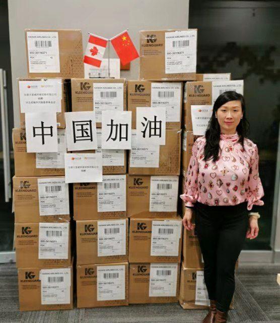 助力中国打赢疫情防控阻击战,我们在行动 -加中商贸创新联盟捐赠医疗物资抗疫