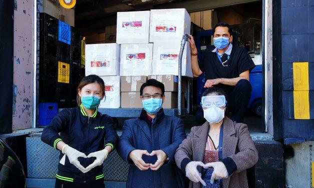 人人戴口罩爱心赞助, 安全尽责护社区,华人社区联合其他族裔发动人人戴口罩抗疫倡议与赞助行动