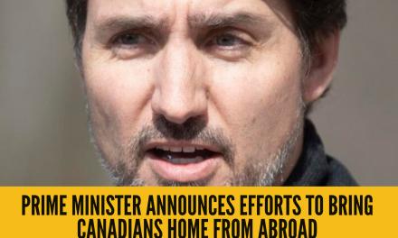 总理宣布采取行动接载加拿大人回国 Prime Minister announces efforts to bring Canadians home from abroad