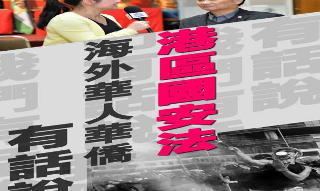 加拿大華人華僑堅決支持和擁護香港國安法 期待香港由亂而治